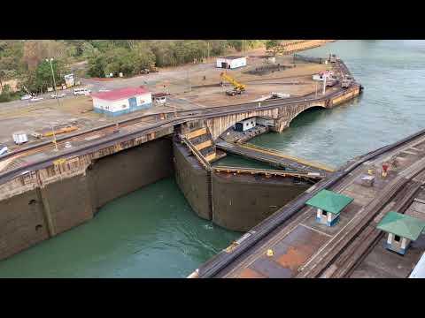 Panama Canal. Island