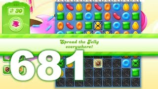 Candy Crush Jelly Saga Level 681 (3 star, No boosters)