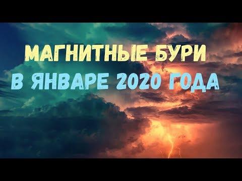 МАГНИТНЫЕ БУРИ В ЯНВАРЕ 2020 ГОДА. Расписание и график