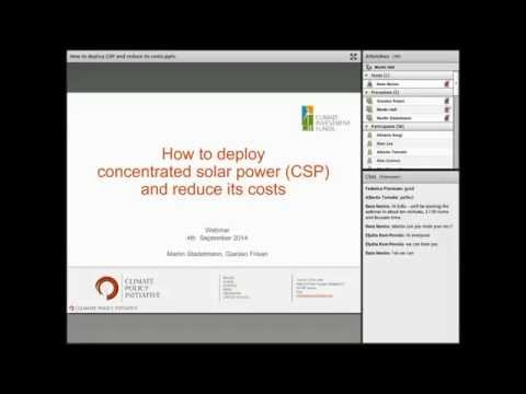 Webinar: How to deploy concentrated solar power (CSP) and reduce its costs