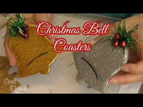 Christmas Bell Resin Coasters | Another Coaster Friday | Craft Klatch