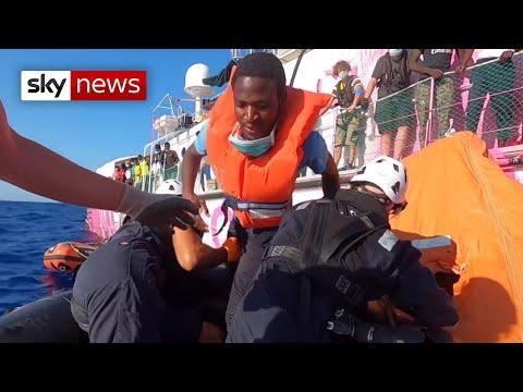 Italy And Malta 'refuse' Migrants Stranded On Banksy Boat