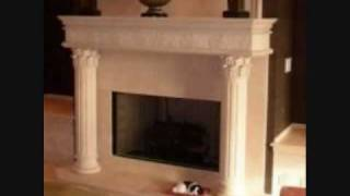 Custom Hand Carved Stone Fireplace Mantels