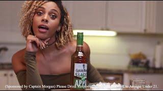 Jade Novah x Captain Morgan Sliced Apple Spiced Rum - Ice & a Slice