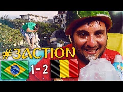 TUFFARSI IN PISCINA VESTITO - #3ACTION Brasile 1 - Belgio 2