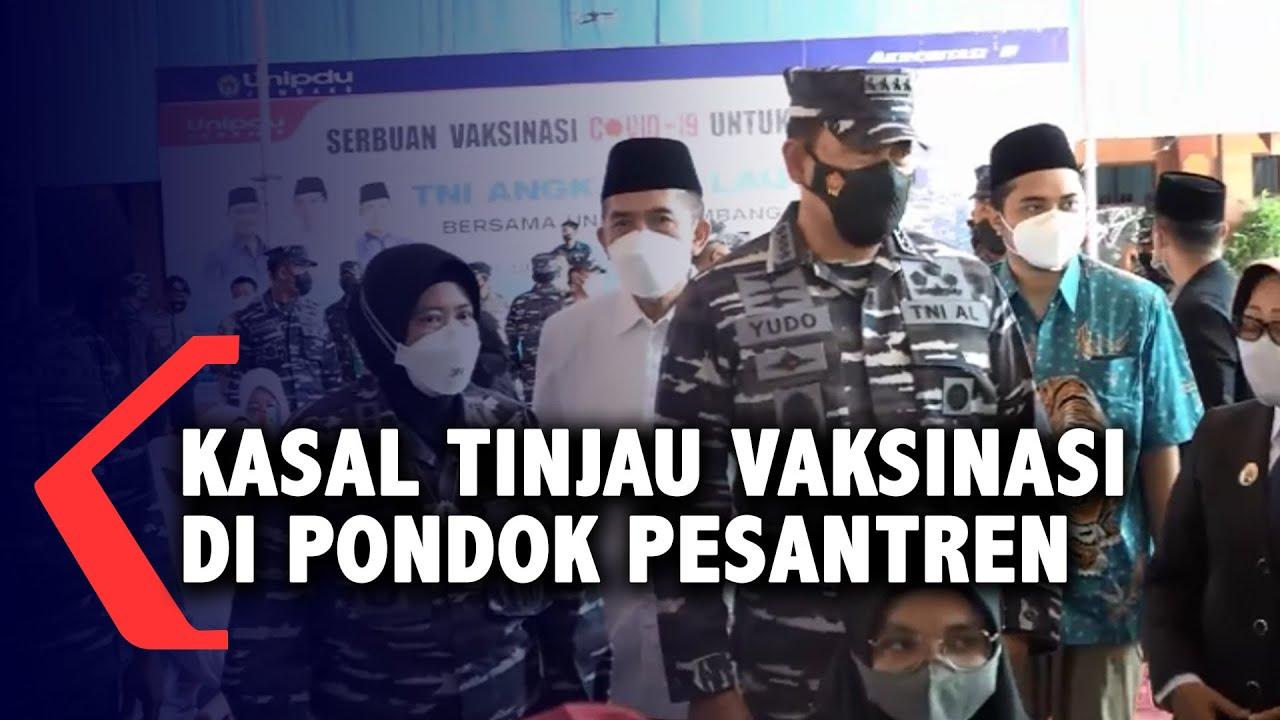 TNI AL Gelar Vaksinasi Di Pondok Pesantren