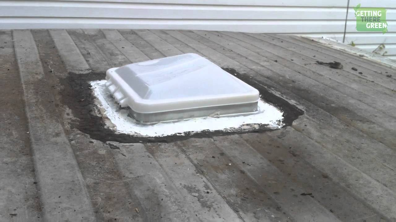Fabulous Remove And Replacing Trailer Roof Vent Camper Trailer Series Part  Youtube With Rv Bathroom Vent Fan