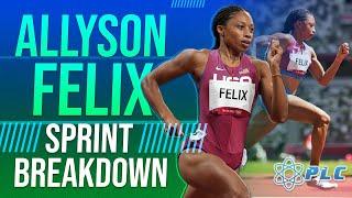 Allyson Felix 2017 Sprint Breakdown