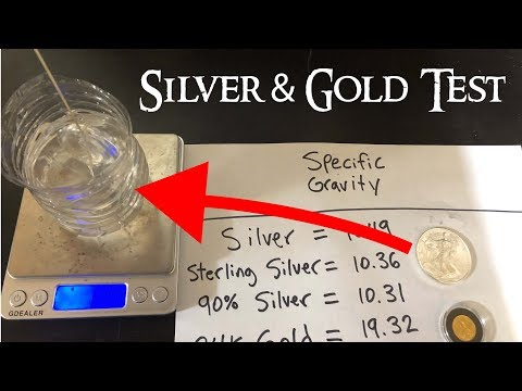 How to Test Silver and Gold at Home - Specific Gravity Test