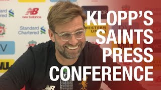 Press Conference | Klopp previews Southampton game