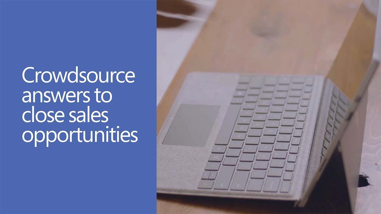 Crowdsource answers to close sales opportunities with Yammer