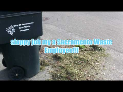 Sloppy Job by Sacramento Waste employee