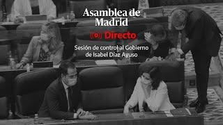 🔴 DIRECTO | Sesión de control al Gobierno de Ayuso en la Asamblea de Madrid
