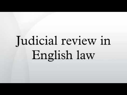 Judicial review in English law