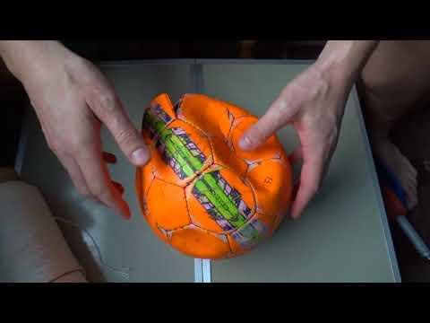 Как поменять камеру в футбольном мяче