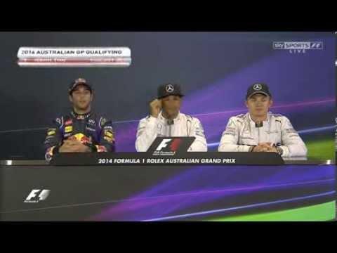 F1 Australian GP Qualifying Press Conference - Hamilton / Ricciardo / Rosberg