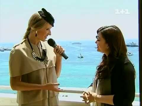 Aishwarya interview to a Ukranian Network at Cannes 2012