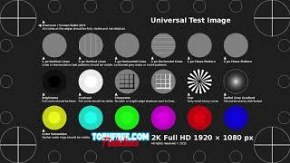 Тестовый ролик для проверки телевизора или приставки на FullHD