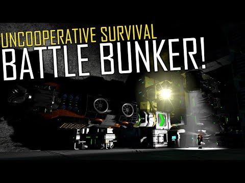 Space Engineers: Battle Bunker & Raising the Defences! - Uncooperative Survival #23