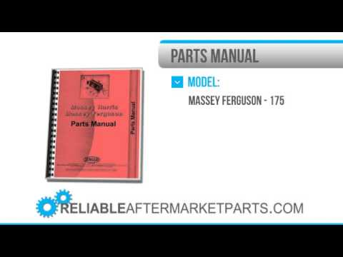 2784 New Massey Ferguson 175 Tractor Parts Manual