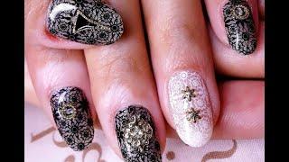 Роспись ногтей акриловыми красками пошагово
