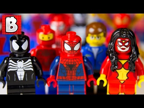 Every Lego Spider-Man Minifigure Ever !!! + All 3 San Diego Comic-Con Exclusives | Collection Review