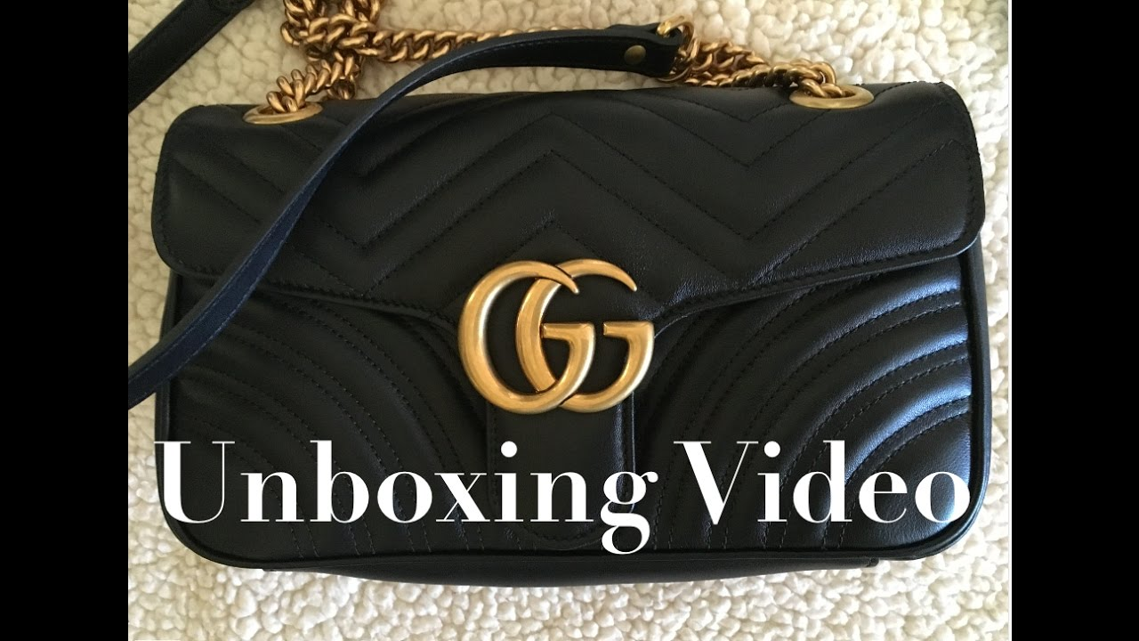 22bfbb4eb885 Unboxing / Bag Reveal for Gucci Marmont Matelasse Bag - YouTube