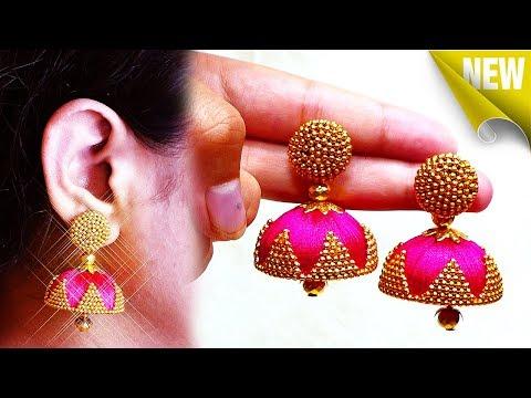 How To Make Silk Thread Jhumkas At Home | Latest Silk Thread Earrings