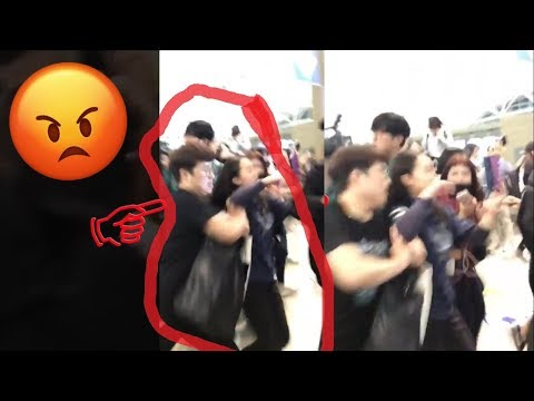 [ Fancam ] 180929 Wanna One Manager Push Fans | Suvarnabhumi Airport Thailand - 워너원