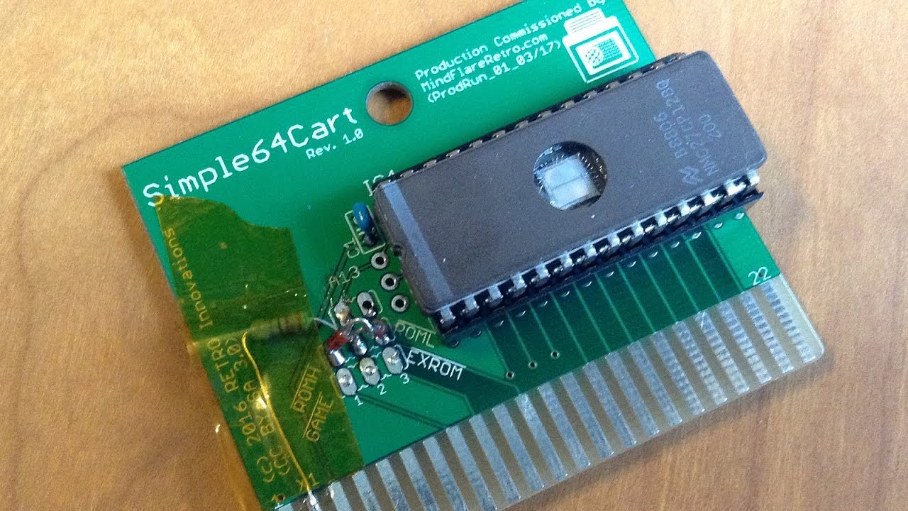 reviewing the simplec64cart circuit board youtube