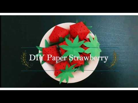 Paper strawberry/Easy DIY