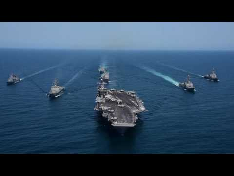 Carl Vinson Carrier Strike Group and ROK Navy Formation of Ships