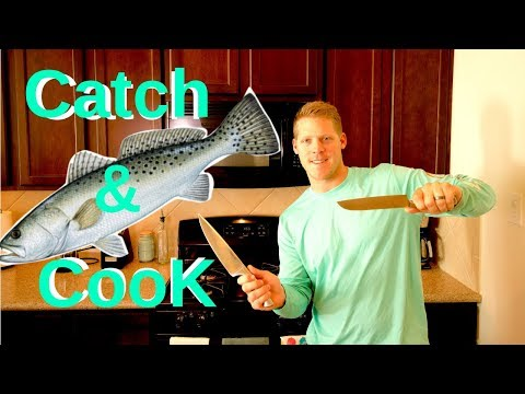 Fishing Galveston Offatts Bayou (Speckled Trout- Catch and Cook!!)