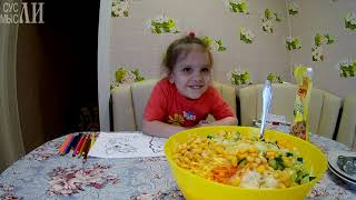 Овощной салат с кириешками / Простые рецепты