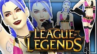 The Sims 4   Create A Sim   Jinx - League Of Legends