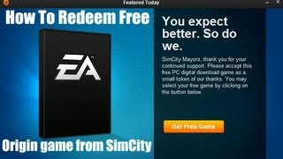 How to redeem your free Origin game from SimCity!