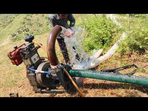Water engine Pump Set | Farming Machine | 5 inch Plastic Sinchai Pipe | सिंचाई करने का देसी जुगाड़