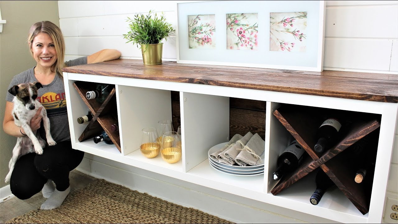 Credenzas En Ikea : Ikea hack the floating credenza youtube