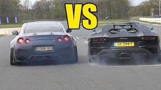 NISSAN GTR R35 vs LAMBORGHINI AVENTADOR - DRAG RACE 🔥