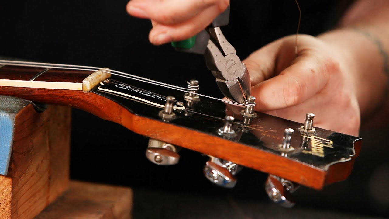 how to string a gibson les paul guitar setup with loop control