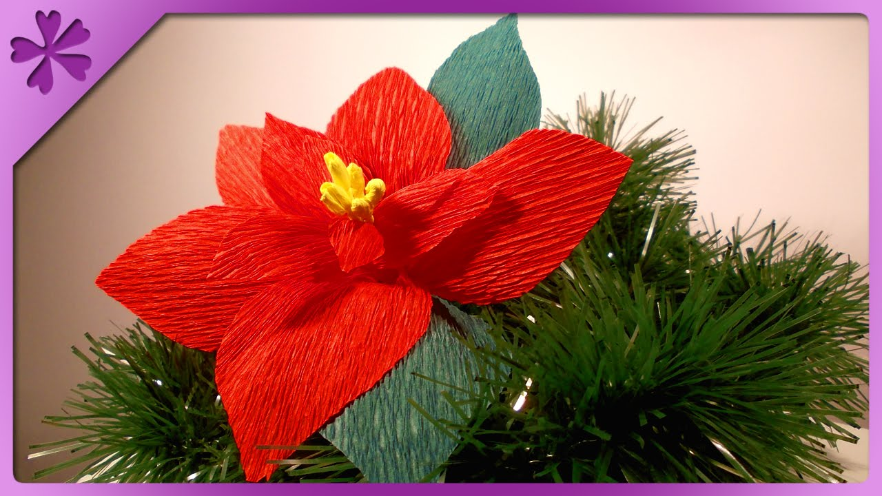 Diy Tissue Paper Poinsettia Eng Subtitles Speed Up 41 Youtube
