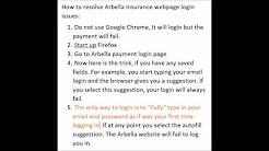 Arbella Insurance online pay login issues - fix - cannot login to Arbella insurance