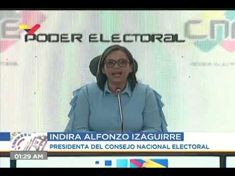 Indira Alfonzo da primeros resultados de elecciones parlamentarias 2020 (rueda de prensa completa)