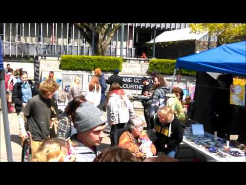 Eugene Oregon Saturday Market Tour And Drum Circle 4 15 17