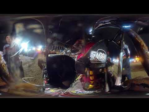 360 footage #41 David gravel - WoO sprint car - Lake ozark speedway 10-19-19- In Car Camera