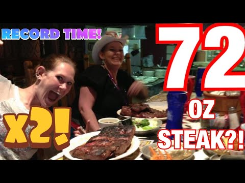 Molly Schuyler vs The Big Texan 72 oz steak challenge x 2