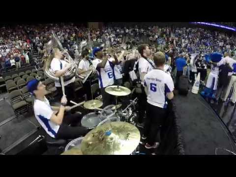 Drumming & March Madness via GoPro - Georgia State Band - GSU Upset over Baylor!