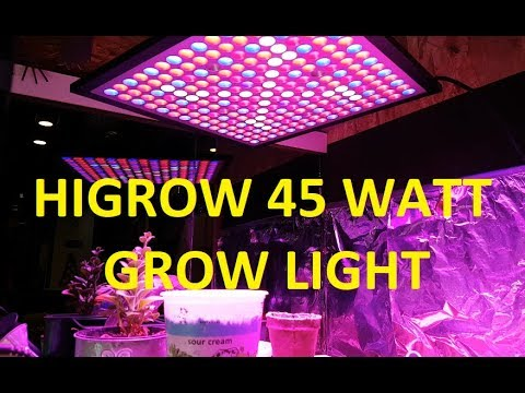 Higrow 45w Led Grow Light Review And Unboxing Youtube