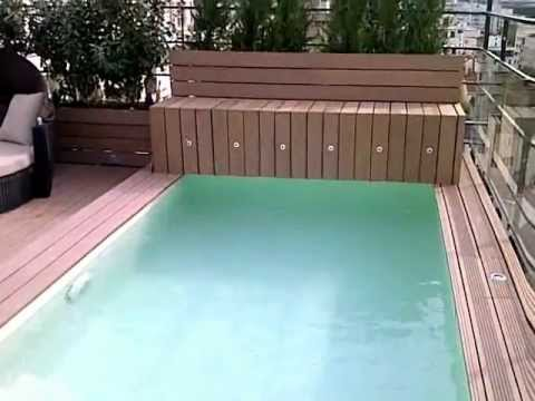 installation piscine toit paris youtube. Black Bedroom Furniture Sets. Home Design Ideas