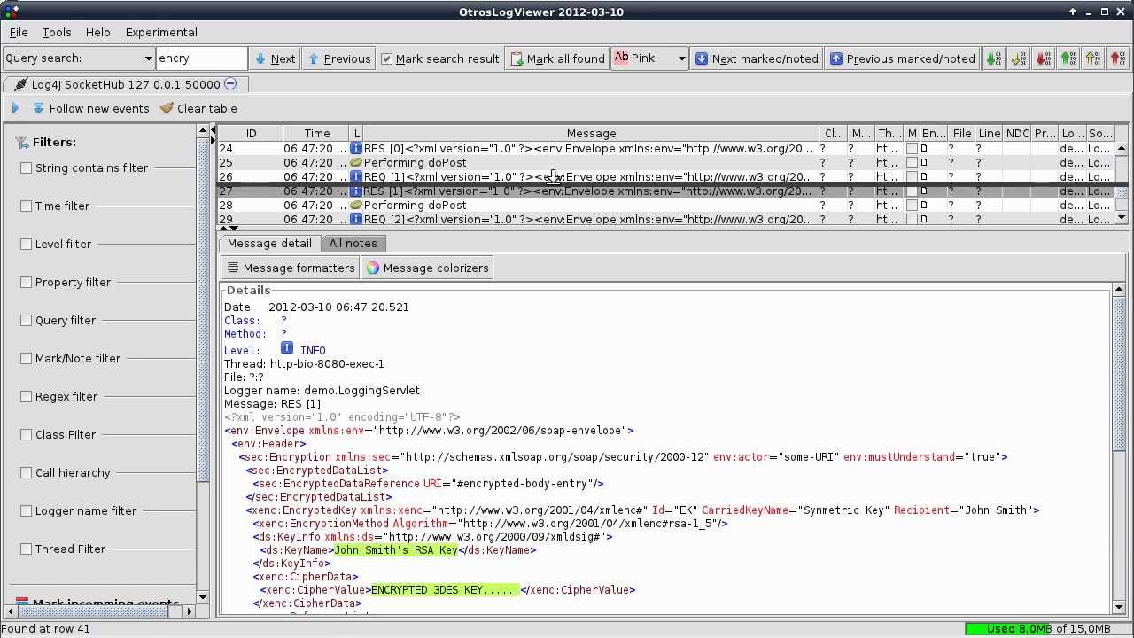 Java open soure log viewer - OtrosLogViewer | Coding Forums